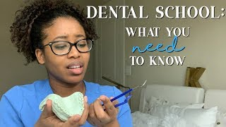 DENTAL SCHOOL: What you NEED to know | Dental School