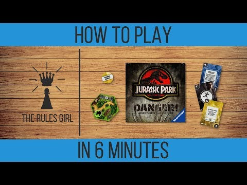 How to How to Play Jurassic Park Danger! in 6 Minutes - The Rules Girl