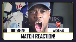 EXPRESSIONS UNCHAINED!! Tottenham (2) vs Arsenal (1) EXPRESSIONS MATCH REACTION