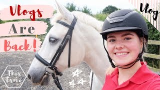 Vlog   Day In The Life! Feeding, Cleaning + Riding The Horses   This Esme