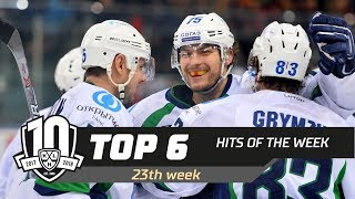 17/18 KHL Top 6 Hits for Week 23
