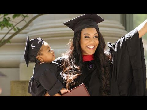 Single Mom Graduates From Harvard Law After Taking Exam While in Labor