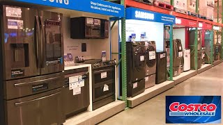 COSTCO KITCHEN APPLIANCES REFRIGERATORS MICROWAVES WASHERS SHOP WITH ME SHOPPING STORE WALK THROUGH