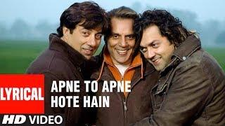 Apne To Apne Hote Hain Title Track Lyrical Video   - YouTube