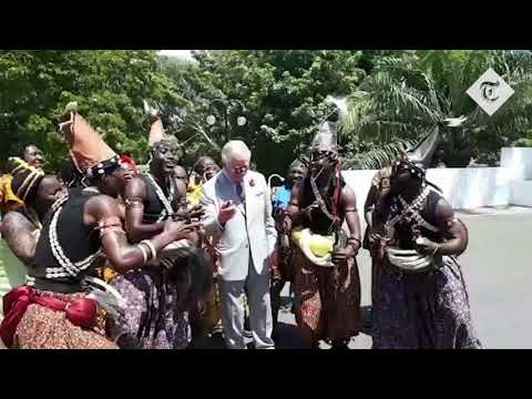 Prince Charles joins in with impromptu dance party in Ghana