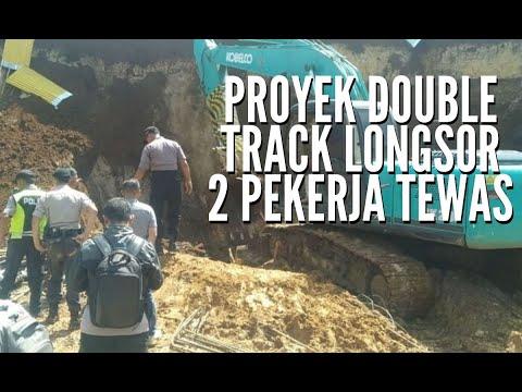 Longsor Proyek Double Track Bogor-Sukabumi, 2 Pekerja Tewas