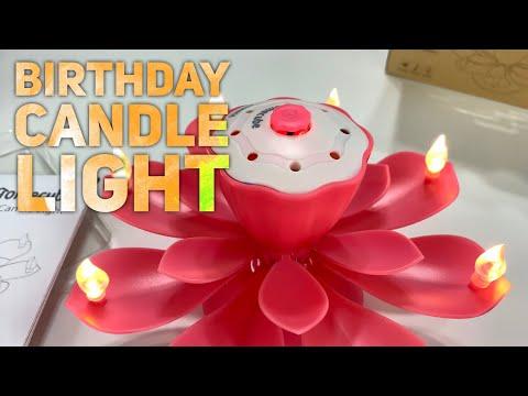 Musical Led Birthday Candles Flower