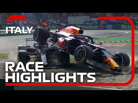 F1第14戦イタリアGP(モンツァ)決勝レースのハイライト動画