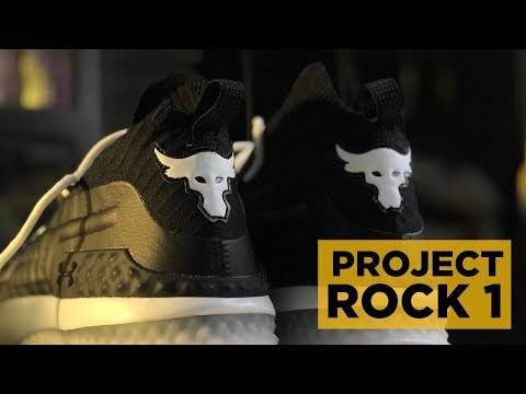 UNDER ARMOUR PROJECT ROCK 1 BLACK UNBOXING (+WEIGHT LOSS GOALS!)