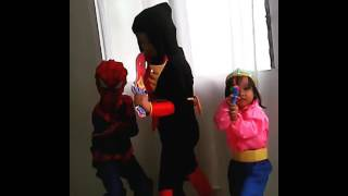 Spiderkid shadow ninja and little dwarf funniest baby 2017 princess divine video colletion7