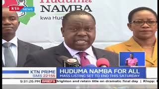 List of consequences for not registering for Huduma Namba