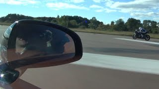 ROLLRACE 1200 HP vs BMW S1000RR vs Bugatti Veyron Vitesse Race 1 and 2 out of 3