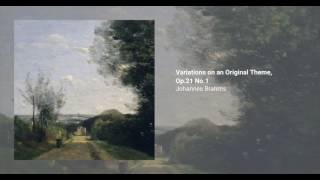 Variations on an original theme in D major,  no. 1 from Op. 21