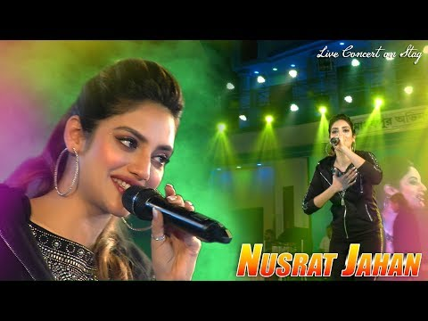 Tollywood Glamour Queen Actress Nusrat Jahan Live Concert & Live Singing Song - Mon Boleche Amar