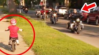 Holčička jezdila na motorce, když při ní zastavili drsní motorkáři a tohle jí udělali...