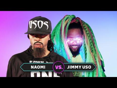, title : 'Naomi vs. Jimmy Uso: Superstar Impersonation Battle'