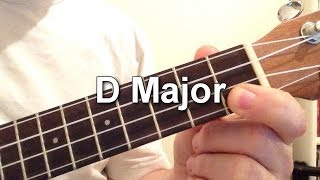 How to play D Major chord on the ukulele!
