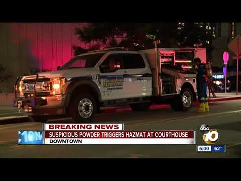 Hazmat scare at San Diego courthouse