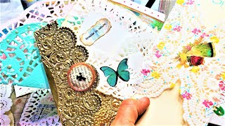 DOILY IDEAS For Junk Journals! Fun Easy Ways To Use Doilies In Junk Journals! The Paper Outpost! :)