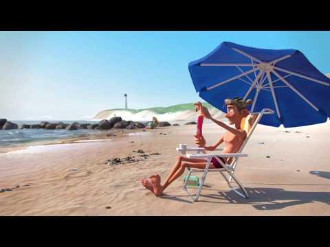סרטון אנימציה על נקמה במי שמשליך עטיפות פלסטיק בחוף הים