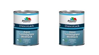 DiescoLack Aqua Seidenglanz Weißlack Spritzverarbeitung