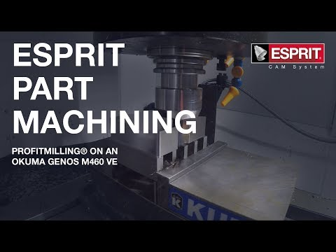 ESPRIT ProfitMilling® on an Okuma Genos M460 VE