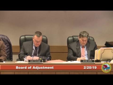 Board of Adjustment 02.20.19