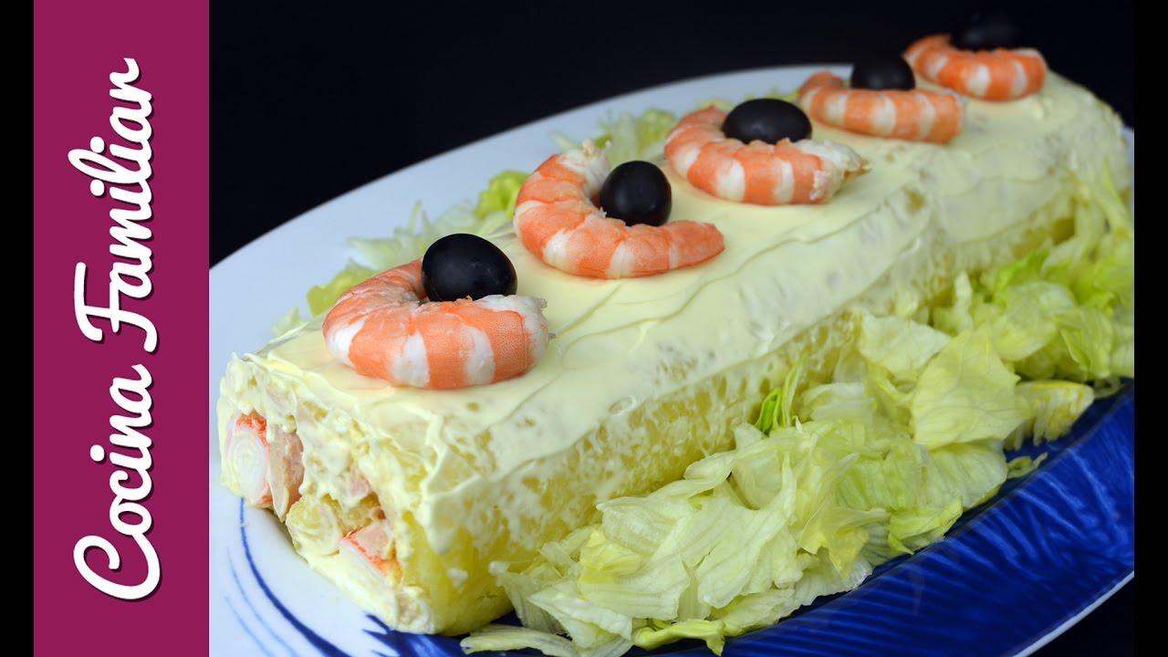 Pastel salado, relleno de atún y marisco | Javier Romero