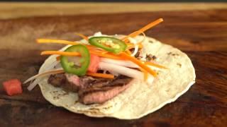 Grilled Teriyaki Tacos with Jalapeño Slaw