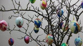Ostereier ❁ Ostern ❁ DIY ❁ Schnell undeinfachEier mit Nagellack selbst gestalten