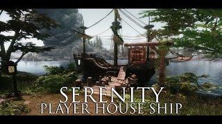 TES V - Skyrim Mods: Serenity - Player House Ship