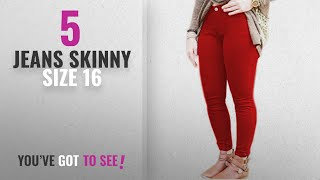 Top 10 Jeans Skinny Size 16 [2018]: Vanilla Inc Ladies Womens Skinny Plus Size Stretchy Fitted