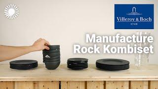 Villeroy & Boch Manufacture Rock Geschirrset Review - Aufregende Schieferoptik! | Hertie