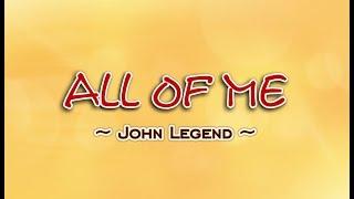 All Of Me   John Legend (KARAOKE VERSION)