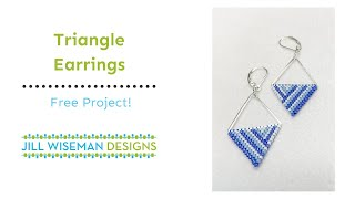 Triangle Earrings With Brick Stitch