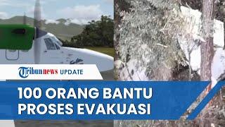 Proses Evakuasi Jasad Awak Pesawat Rimbun Air di Papua Libatkan 100 Orang, Kendala Cuaca Buruk