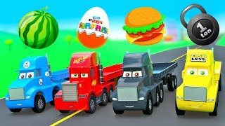 New Cars Story Super Strong Truck Cup, Mack Truck Color Haulers w/ Fruits & Surpize Eggs
