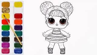 Как нарисовать лол сюрприз куклы, как сделать сюрприз куклы лол. книжка-раскраска