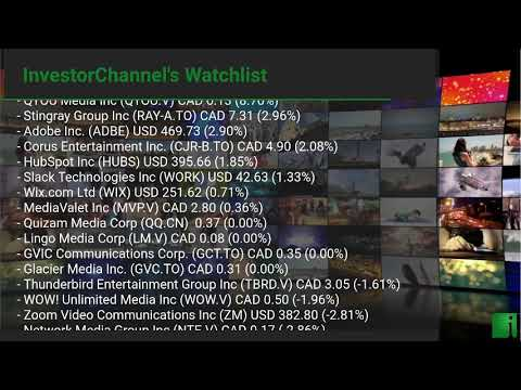 InvestorChannel's Media Watchlist Update for Wednesday, January, 20, 2021, 16:24 EST