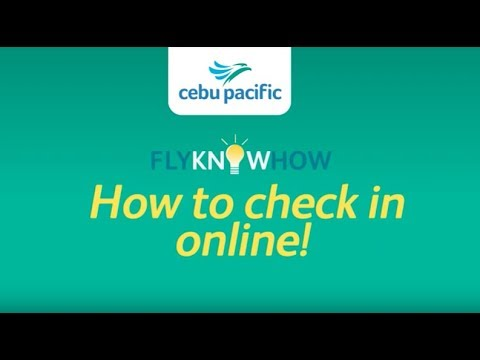 How to check in online for your Cebu Pacific flight