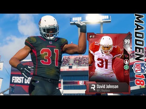 NFL REPLAYS  DAVID JOHNSON  BEST RUNNING BACK IN THE GAME?    MADDEN 18 ULTIMATE TEAM GAMEPLAY