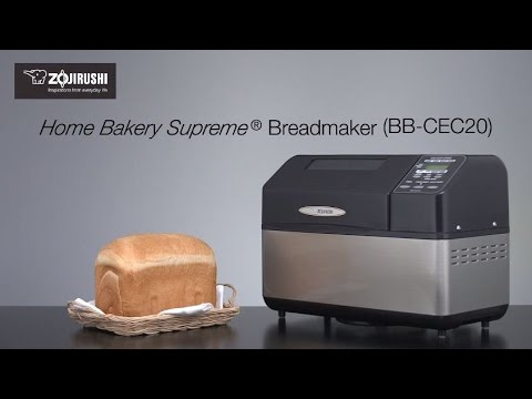 , Zojirushi BB-CEC20 Home Bakery Supreme 2-Pound-Loaf Breadmaker, Black