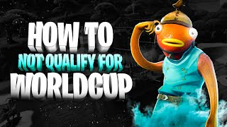 😂🐠 How NOT to qualify for World Cup! Chefstrobel Guide | Fortnite Battle Royale