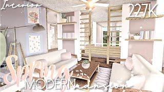 BLOXBURG || Spring Modern Mansion 227K | INTERIOR | Mobile Speedbuild