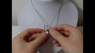 How to put on a ring on a necklace ringholder
