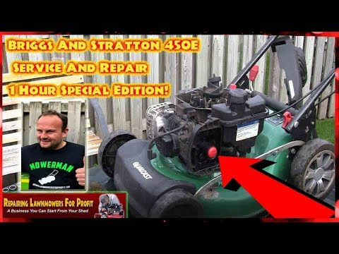 Briggs And Stratton Petrol Lawnmower 450E Service And Repairs- 1 Hour Special Edition
