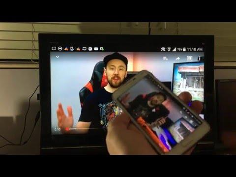 screen mirror wirelessly to hdtv most samsung galaxy phones