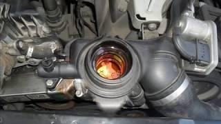 Замена термостата радиатора AGR BMW e60 m57