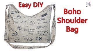 EASY DIY BOHO SHOULDER BAG | CROSSBODY BAG | BOHO BAG | DIY BAG | BAG MAKING IDEAS