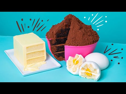 You won't believe it's ALL CAKE! | Cake ingredients with a twist